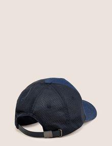 ARMANI EXCHANGE LOGO APPLIQUE DENIM/MESH HAT Hat Man r