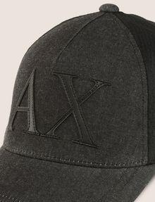 ARMANI EXCHANGE LOGO APPLIQUE DENIM/MESH HAT Hat Man d