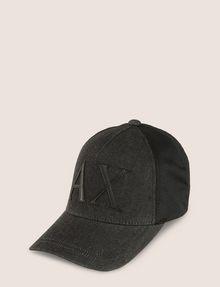 ARMANI EXCHANGE LOGO APPLIQUE DENIM/MESH HAT Hat Man f