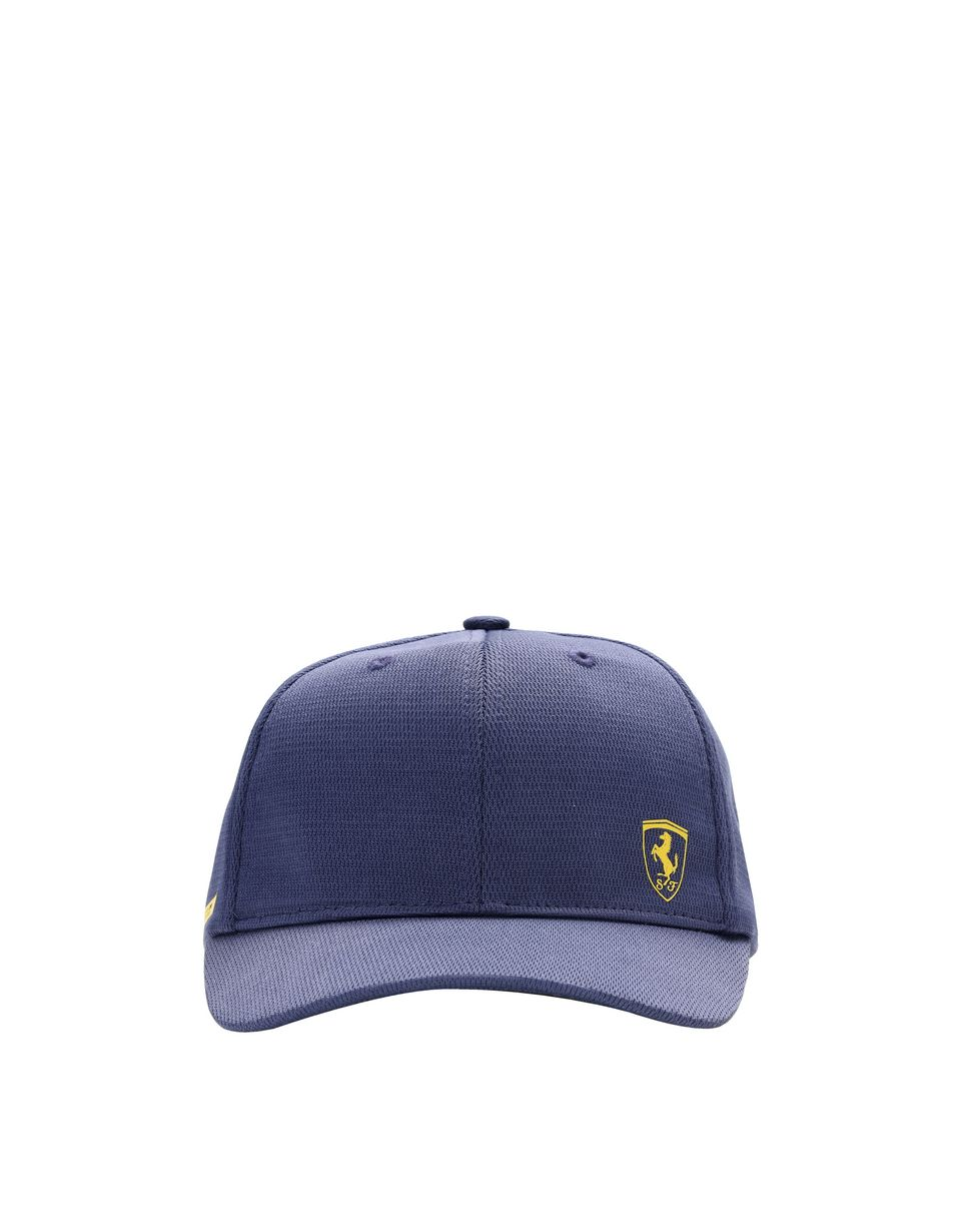 Scuderia Ferrari Online Store - Kid's cap with visor in breathable technical fabric - Baseball Caps