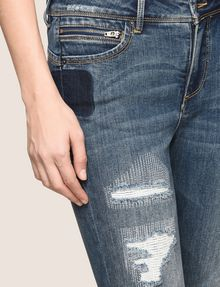 ARMANI EXCHANGE RIPPED & REPAIRED CROPPED SKINNY JEANS Skinny jeans Woman b