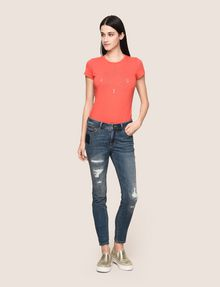 ARMANI EXCHANGE RIPPED & REPAIRED CROPPED SKINNY JEANS Skinny jeans Woman d