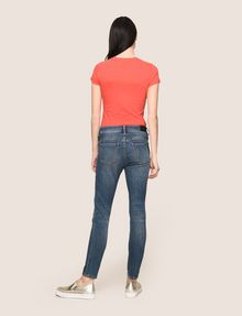 ARMANI EXCHANGE RIPPED & REPAIRED CROPPED SKINNY JEANS Skinny jeans Woman e