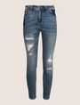 ARMANI EXCHANGE RIPPED & REPAIRED CROPPED SKINNY JEANS Skinny jeans Woman r
