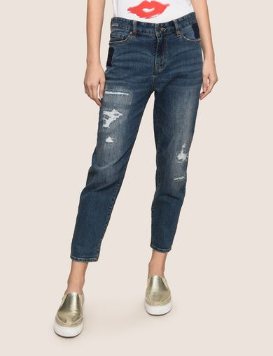 PATCHED AND REPAIRED BOYFRIEND JEANS