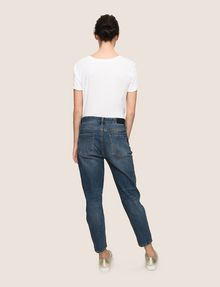 ARMANI EXCHANGE PATCHED AND REPAIRED BOYFRIEND JEANS Boyfriend Denim Woman e