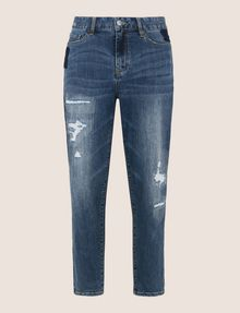 ARMANI EXCHANGE PATCHED AND REPAIRED BOYFRIEND JEANS Boyfriend Denim Woman r