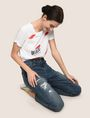 ARMANI EXCHANGE PATCHED AND REPAIRED BOYFRIEND JEANS Boyfriend Denim Woman a