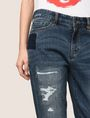 ARMANI EXCHANGE PATCHED AND REPAIRED BOYFRIEND JEANS Boyfriend Denim Woman b