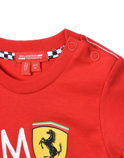 Scuderia Ferrari Online Store - T-shirt for infants with printed wording - Short Sleeve T-Shirts
