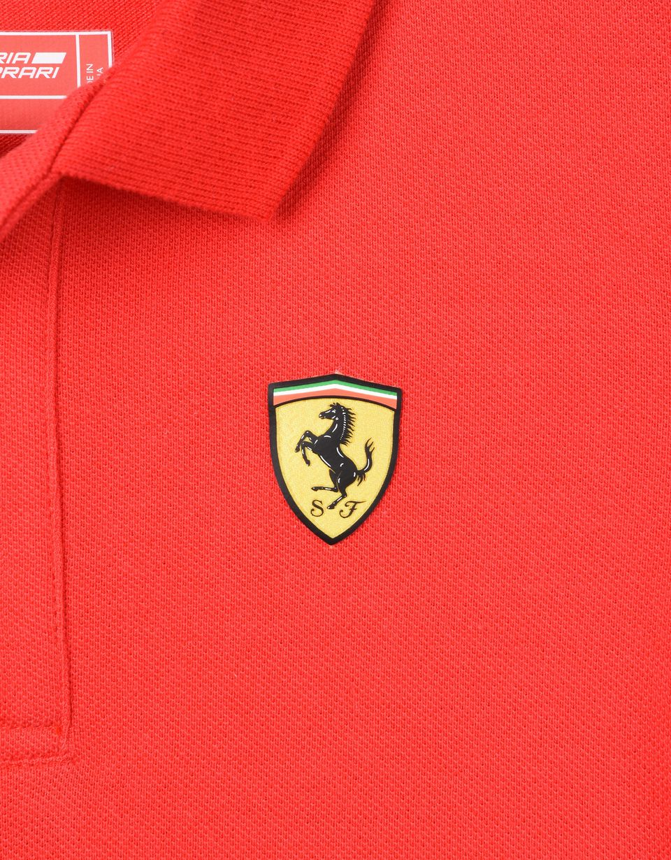 Scuderia Ferrari Online Store - Polo shirt for teens with Italian flag -