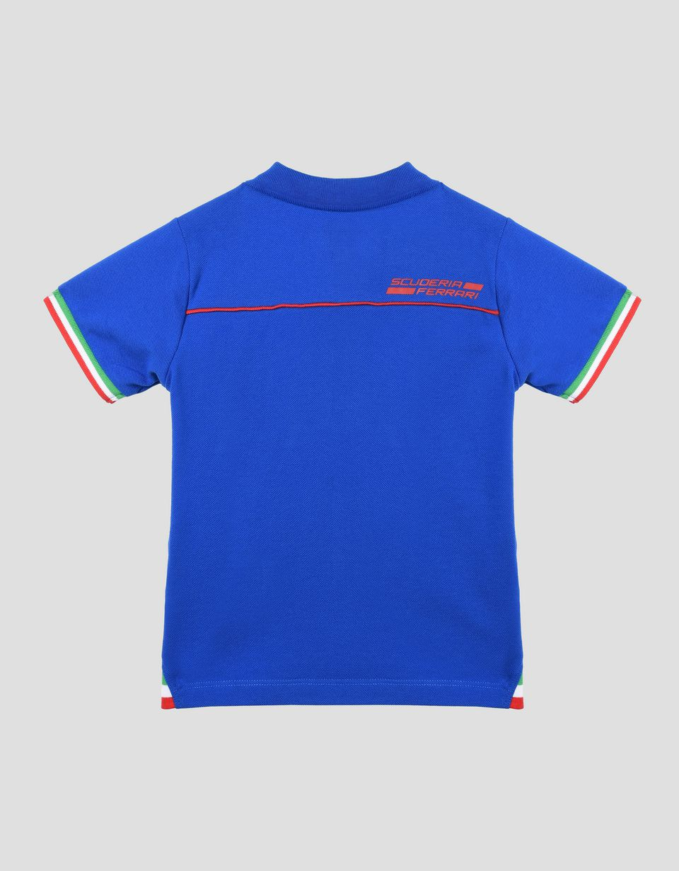Scuderia Ferrari Online Store - Children's polo shirt with the Italian flag - Short Sleeve Polos