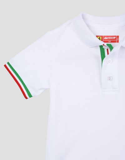 Scuderia Ferrari Online Store - Children's polo shirt with the Italian flag -