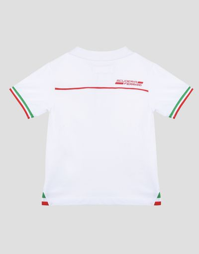 Kids polo shirt with tricolour flag