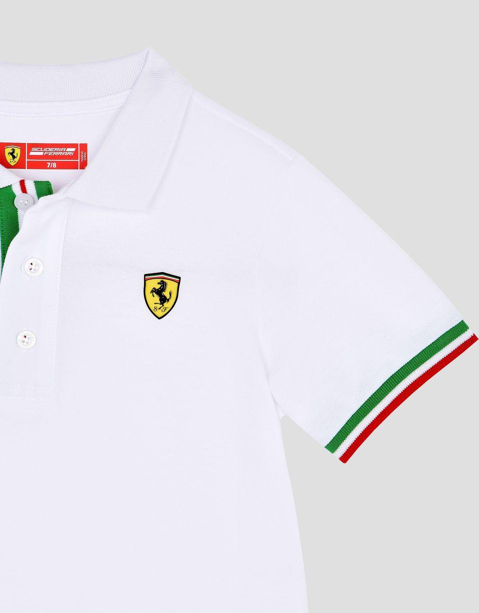 Scuderia Ferrari Online Store - Polo para chico con bandera tricolor - Polos de manga corta