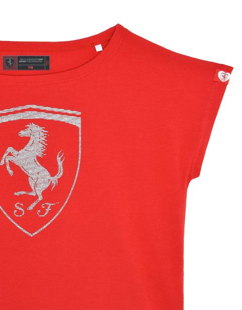 Scuderia Ferrari Online Store - T-shirt for girls with Shield - Short Sleeve T-Shirts