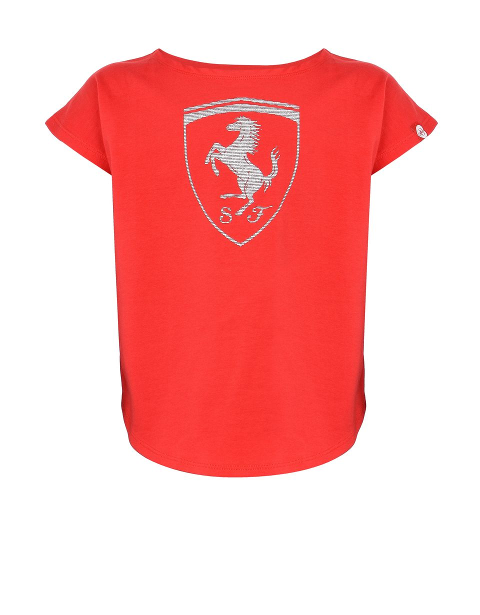 Scuderia Ferrari Online Store - T-shirt for girls with Shield -