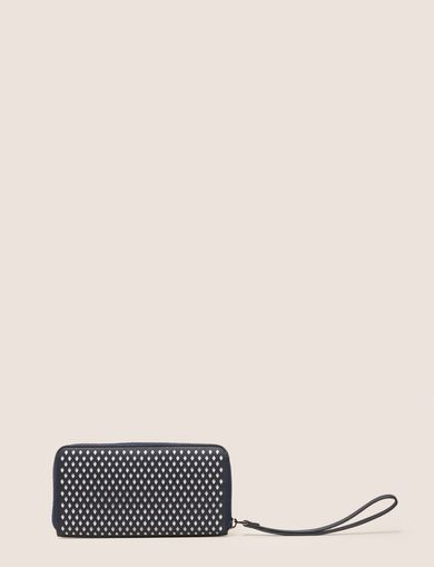 DIAMOND PERFORATED WRISTLET WALLET