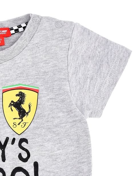 Scuderia Ferrari Online Store - Melange T-shirt for infants with printed wording - Short Sleeve T-Shirts