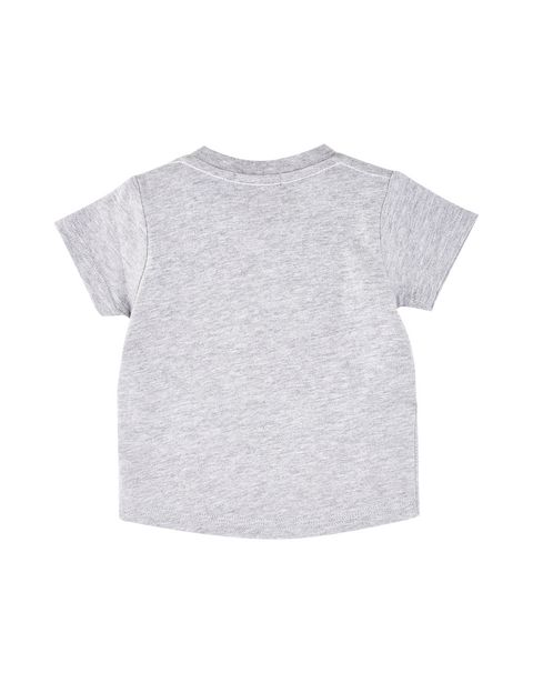 Melange T-shirt for infants with printed wording