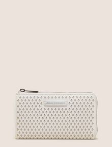 ARMANI EXCHANGE DIAMOND PERFORATED HALF-ZIP WALLET Small leather good Woman f