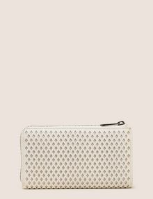 ARMANI EXCHANGE DIAMOND PERFORATED HALF-ZIP WALLET Small leather good Woman r