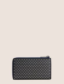 ARMANI EXCHANGE DIAMOND PERFORATED HALF-ZIP WALLET Small leather good Woman d