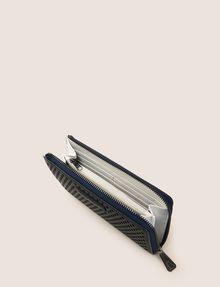 ARMANI EXCHANGE DIAMOND PERFORATED HALF-ZIP WALLET Small leather good Woman r