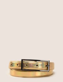 ARMANI EXCHANGE METALLIC SKINNY BELT Belt Woman f