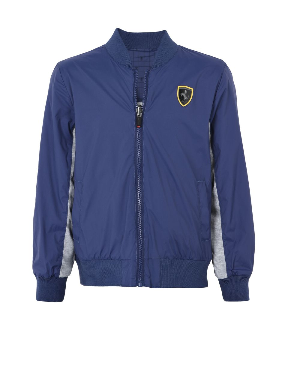 Scuderia Ferrari Online Store - Reversible waterproof jacket for teens - Bombers & Track Jackets