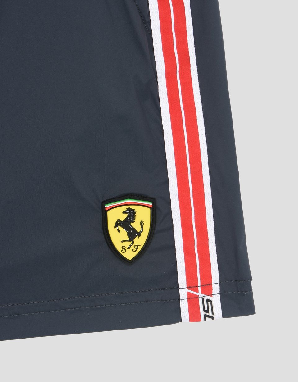 Scuderia Ferrari Online Store - Boys swimsuit with Scuderia Ferrari Icon Tape -