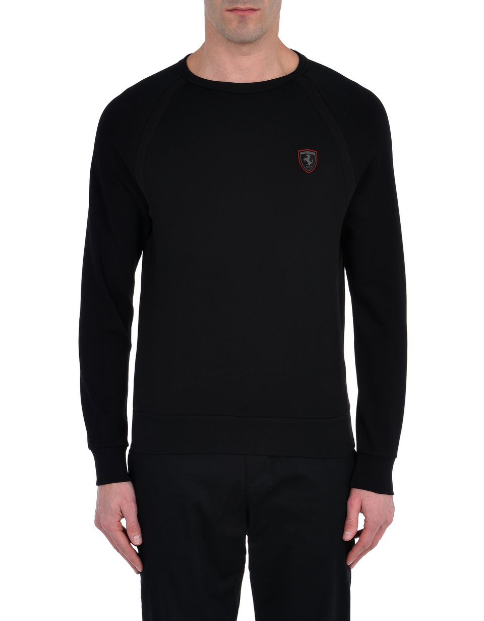 Scuderia Ferrari Online Store - Men's cotton sweatshirt with tricot details -