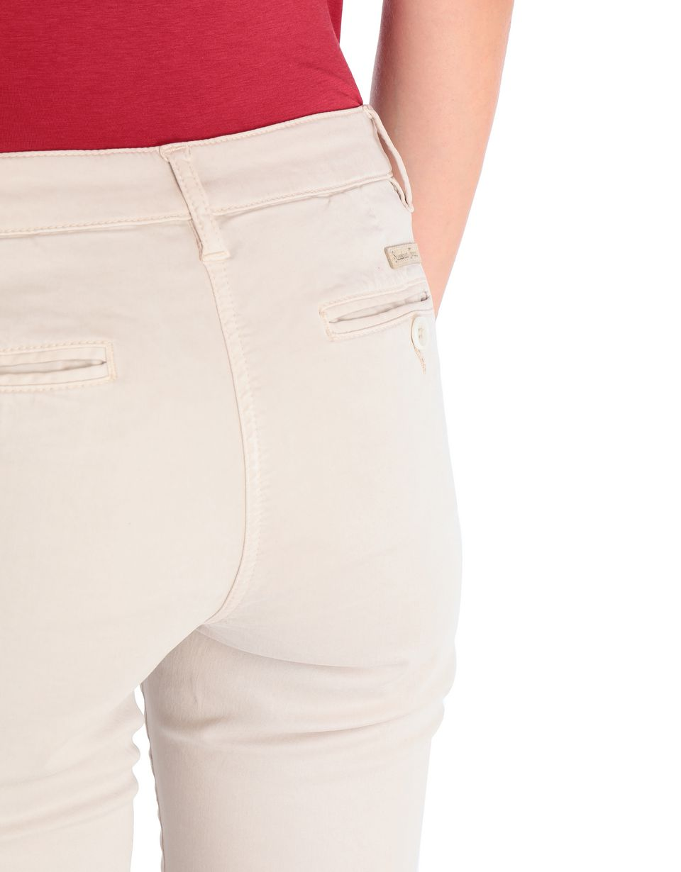 Scuderia Ferrari Online Store - Women's slim- fit trousers with Scuderia Ferrari label - Chinos