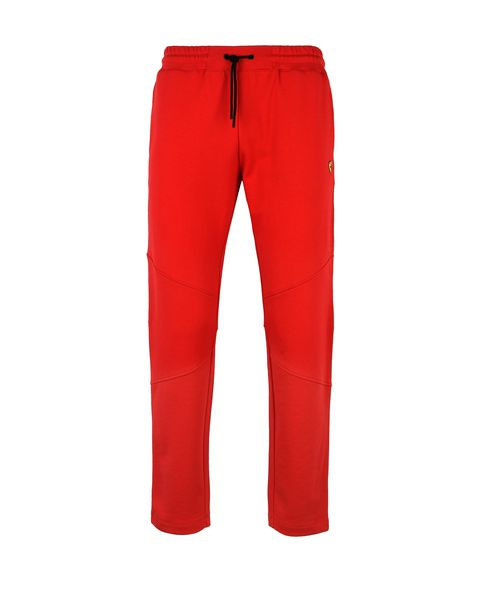 Scuderia Ferrari Online Store - Men's tracksuit bottoms with Shield - Joggers