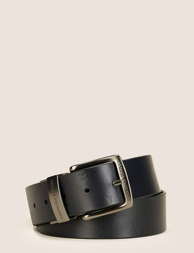 SCATTERED EMBOSSED LOGO BELT