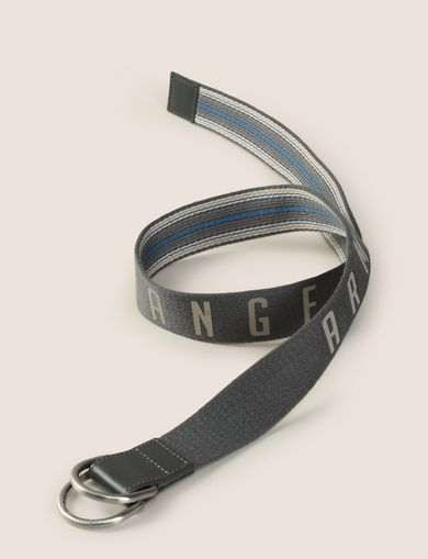 REVERSIBLE LOGO STRIPE CANVAS BELT