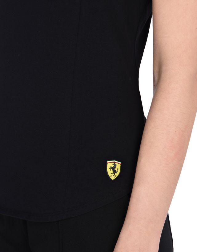 Scuderia Ferrari Online Store - Красная спортивная майка с деталью Scuderia Ferrari - Майки