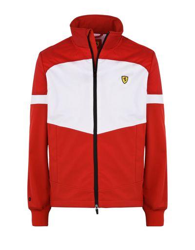 Scuderia Ferrari Online Store - Men's rain jacket with Ferrari Shield -