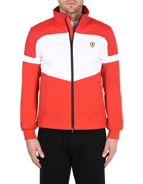 Men's rain jacket with Ferrari Shield