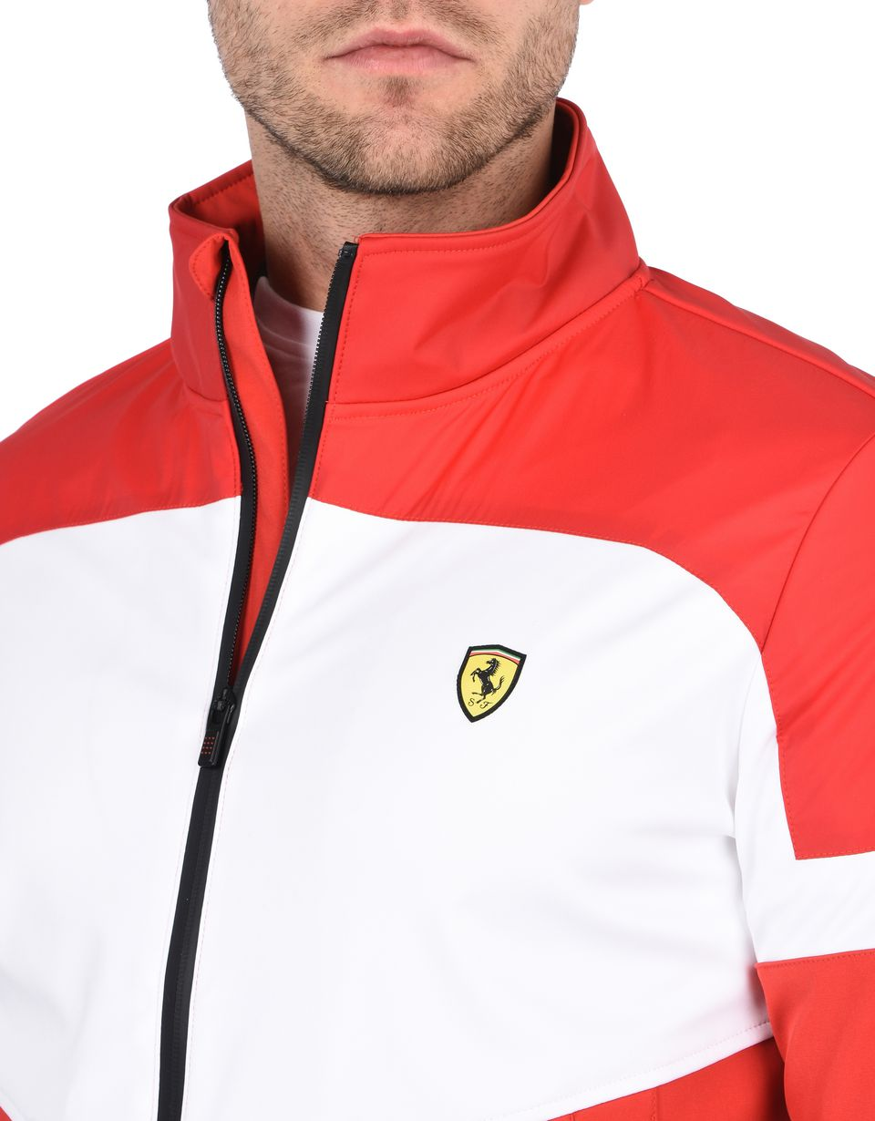 Scuderia Ferrari Online Store - Men's rain jacket with Ferrari Shield - Bombers & Track Jackets