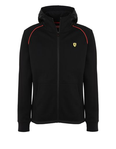 Scuderia Ferrari Online Store - Men's hooded sweatshirt in scuba fabric - Zip Hood Sweaters