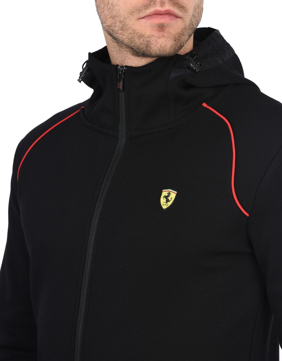 Scuderia Ferrari Online Store - Men's hooded sweatshirt in scuba fabric -