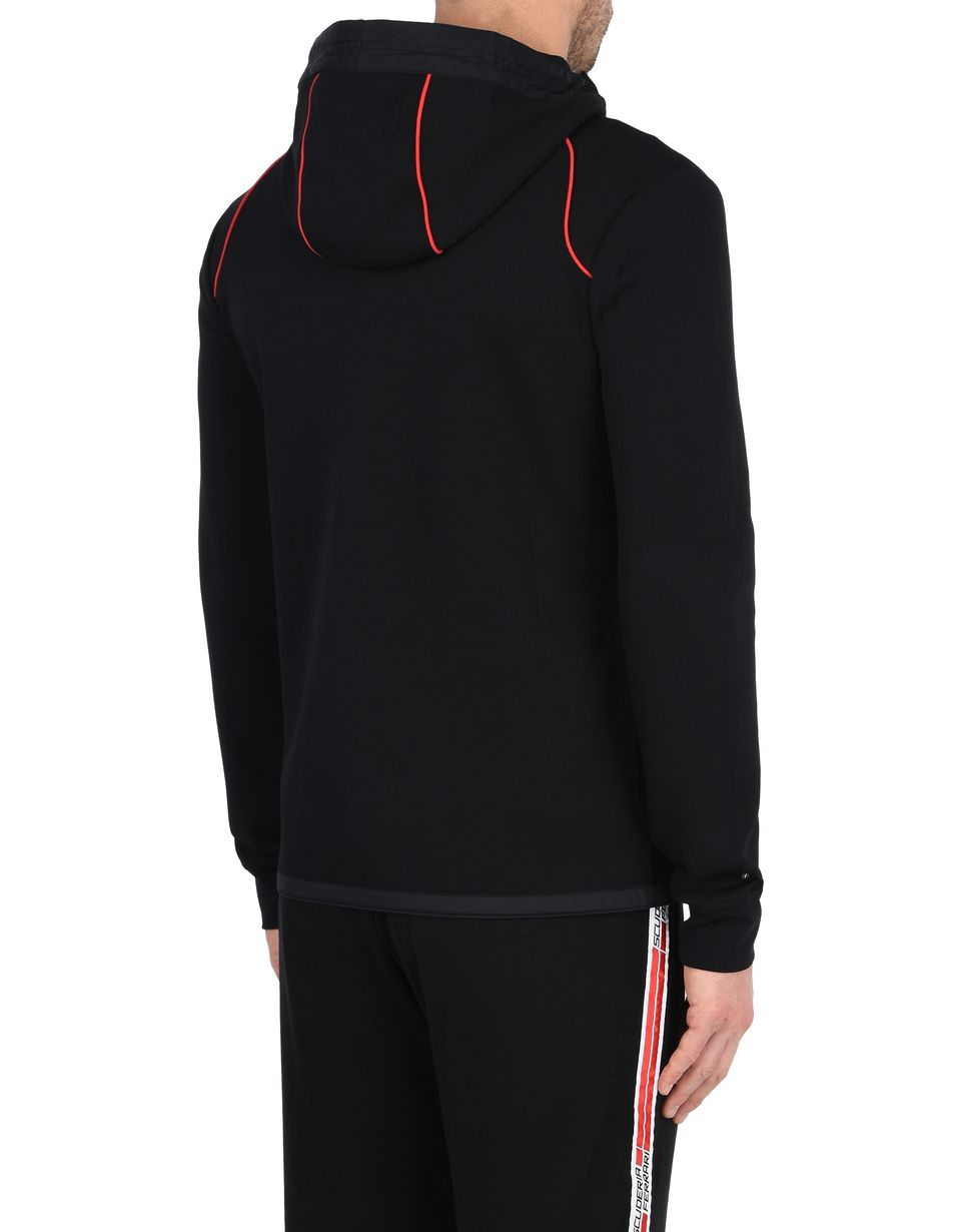 Scuderia Ferrari Online Store - Men's hooded sweatshirt in scuba fabric - Zip Hood Jumpers