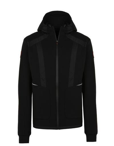 Scuderia Ferrari Online Store - Men's full-zip scuba hooded sweatshirt - Zip Hood Jumpers