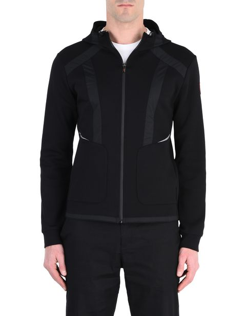 Men's full-zip scuba hooded sweatshirt