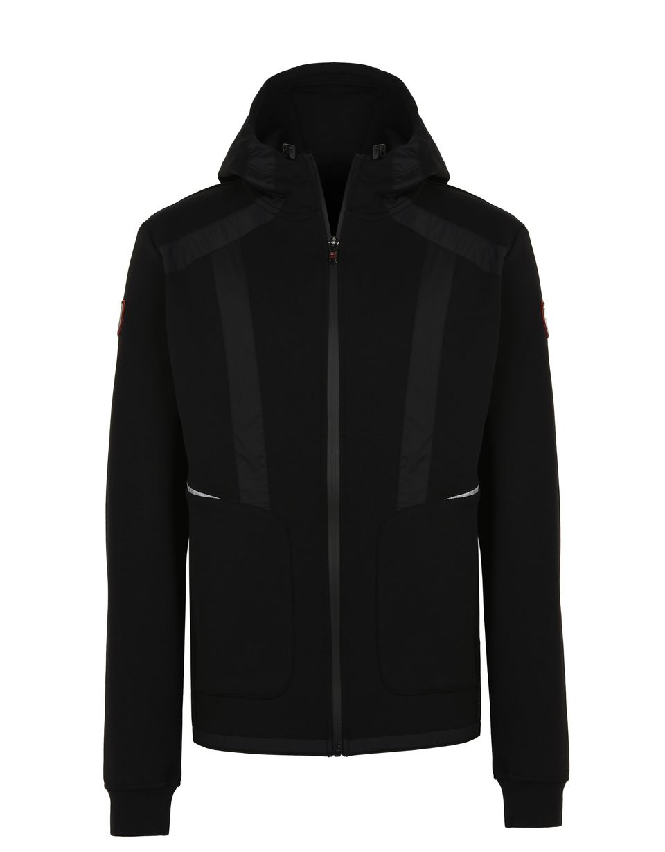 Scuderia Ferrari Online Store - Men's full-zip scuba hooded sweatshirt - Zip Hood Sweaters
