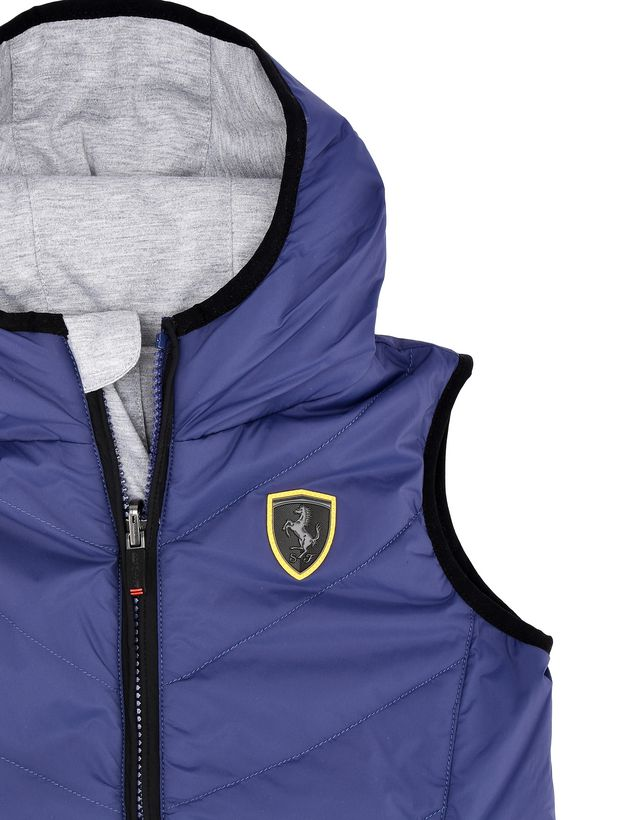 Scuderia Ferrari Online Store - Children's reversible padded vest with Ferrari Shield - Vests