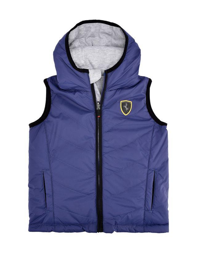 Scuderia Ferrari Online Store - Vest sans manches réversible et rembourrée enfant avec Scudetto Ferrari - Doudounes sans manches