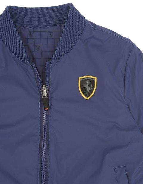 Scuderia Ferrari Online Store - Reversible waterproof jacket for teens -