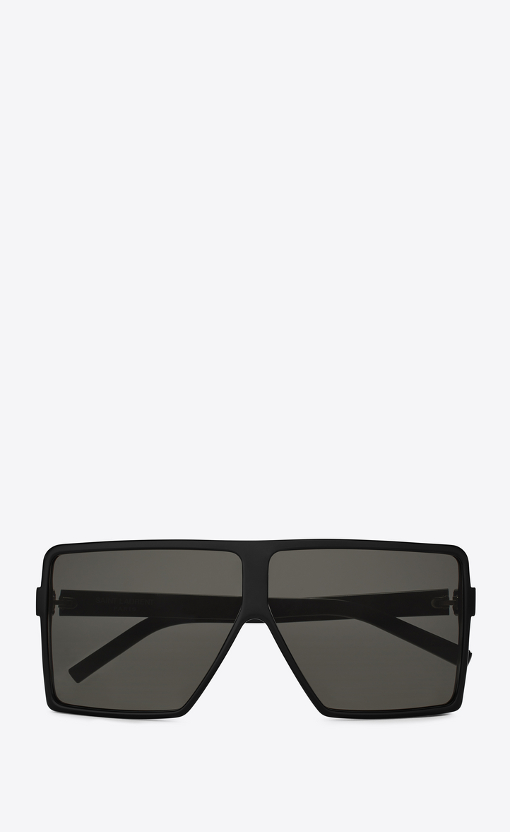 NEW WAVE 183 BETTY SMALL SUNGLASSES IN BLACK ACETATE AND GRAY LENSES